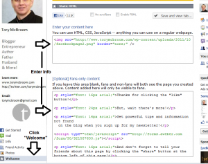 How To Create A Facebook Landing Page Step 2