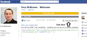 How To Create A Facebook Landing Page Step 3