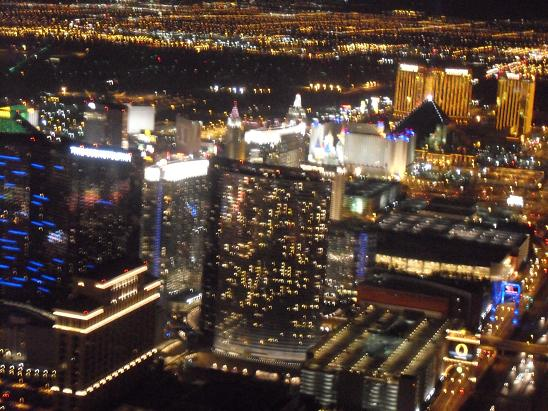 The view of Vegas from our helipcopter