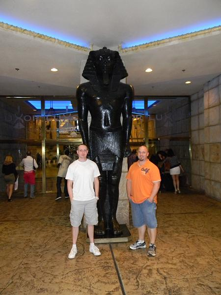 My friend Matt and I at the Luxor